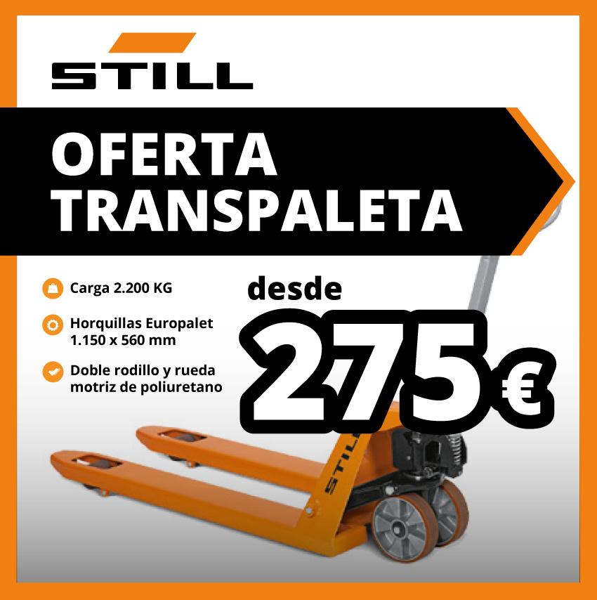 Oferta de transpaleta Still por 275 euros | Daniel Monzón